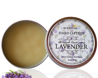 Lavender SOLID LOTION BAR, Vegan Lotion, Hard Lotion, Organic Lotion, Healing Balm, Lotion for Sensitive Skin, Lotion for Dry Skin
