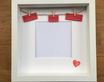Hugs and Kisses bunting photo frame