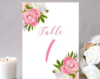 5x7 table numbers, table names, wedding day table sign, reception signage, table decorations, UK