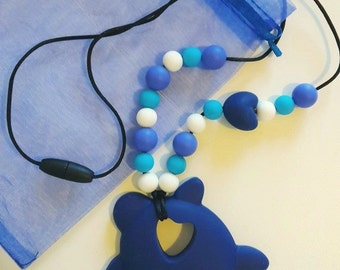 100% silicone BPA free teething nursing necklace