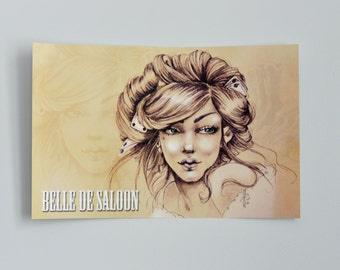 "Poster ""Belle Saloon"""