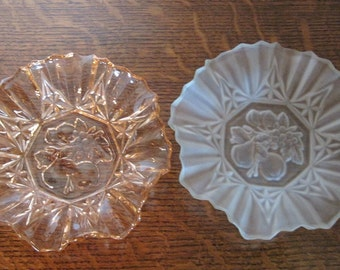 Candy Dishes, Glass Dishes, Pink or White Dish, Vintage Glass