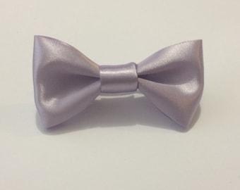 Lilac Satin Hair Bow