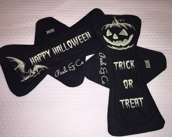 Trick or Treat Halloween glow in the dark cloth pad csp