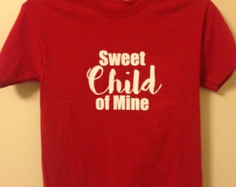 Sweet Child of Mine Shirt - Child T-shirt - Guns n' Roses Shirt - Rock t-shirt - Kids Clothes - Sweet Child O Mine - Kids Graphie Tee - Rock