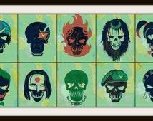Suicide Squad Cross Stitch - Suicide Squad - Super Hero - Villains