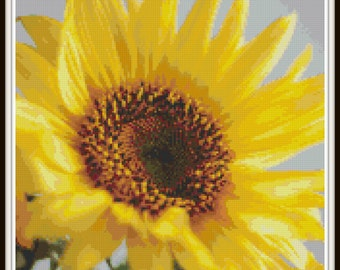Sunflower Cross Stitch Pattern, PDF Download - Instant Access