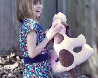 Huggable Stuffed Minky Puppy without Personalization