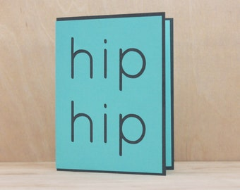 HIP HIP HOORAY Pop-Up // Pop-Up Card, Congratulations Card, Greeting Card, Friendship Card, Bestfriend Card, Card for Him, Card for Her