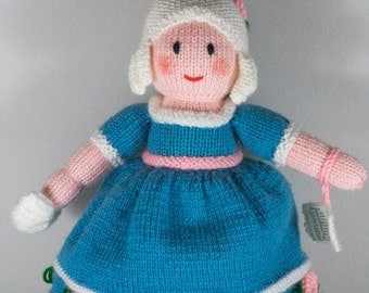 Cinderella Topsy Turvy Doll - Hand Knit Princess Doll - Heirloom Doll