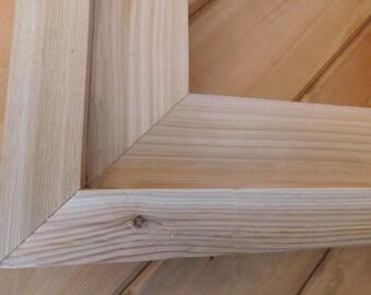 FRAMED BY A FRAME, finished cedar frame (#5355)
