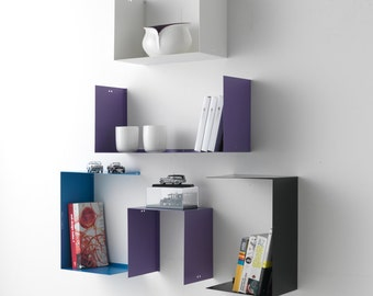 THREE shelf shelves GEOMETRIC design made in italy