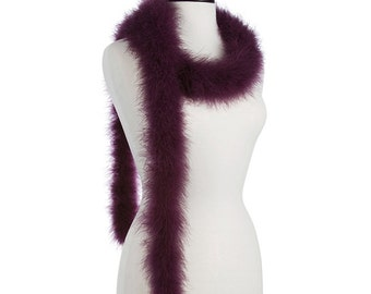 Eggplant 25 Gram Marabou Feather Boas - Use as Trim or Wear as a Scarf