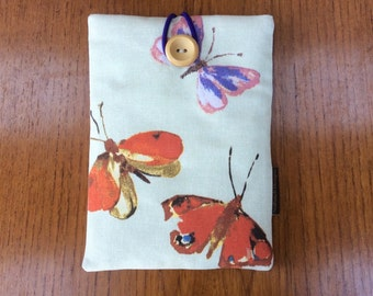 "Kindle paperwhite cover, kindle voyage, 6"" Fire HD, Kobo, Nook cover case, butterflies"