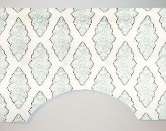 Premier Prints Monroe Slub Custom Valance Curtain, Snowy, Lined
