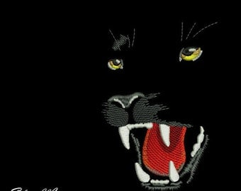 Machine Embroidery Design- Panther Embroidery Panther 4*4, 5*7