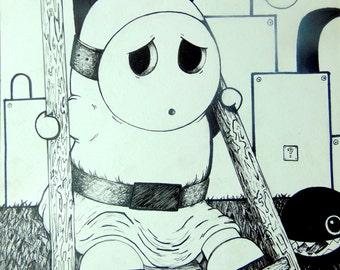 Mario art, Shyguy (print)