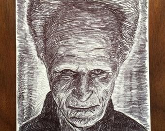 """Gary Oldman """"Bram Stoker's Dracula"""" Ball Point Pen Portrait"""