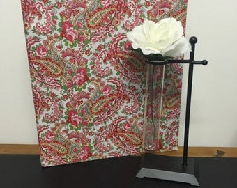 Wedding Planner Book /Organiser In Red Paisley Print for a DIY Bride to Be