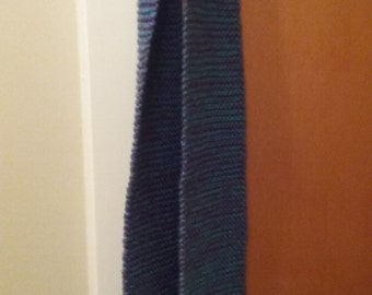 Teal and Purple Scarf