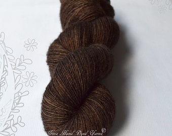 SILK DREAMS - Brownie - hand dyed yarn, blend of extra fine merino and mulberry silk, lace weight, singles