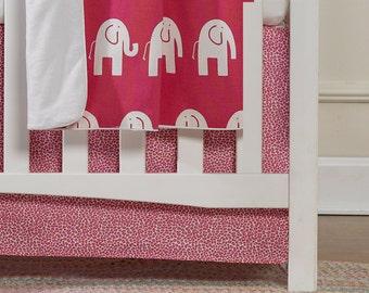 Hot Pink Wild Crib Skirt