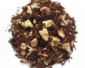 Sweet Apple Tea: Apple Strudel, rooibos tea, redbush tea, caffeine free tea, herbal tea, loose tea, fruit tea, tea gift, gift for tea lover