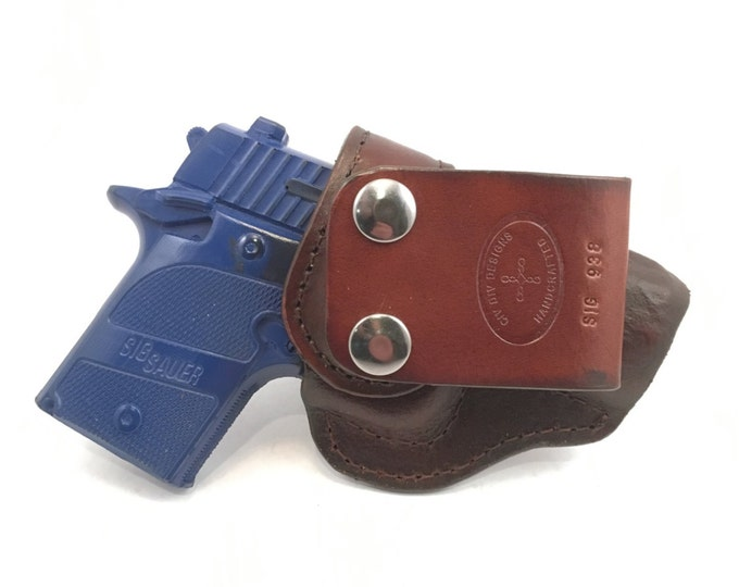 SIG p938 IWB - Handcrafted Leather Pistol Holster