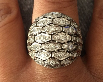 18k white gold diamond ring 1.50ct