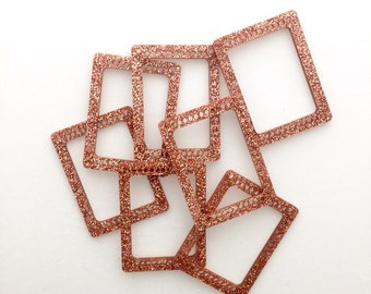 Tiny sparkly weaving loom ROSE GOLD GLITTER
