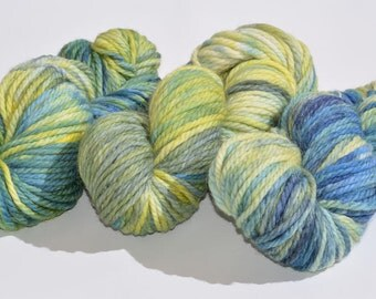 hand-dyed Merino Wool extrafine, handdyed, bulky merino superwash