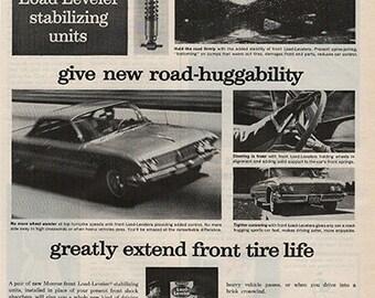 Antique 1963 Auto Monroe Shock Absorbers Original Print Ad