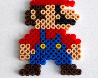 Super Mario Bros Mario and Luigi made with Hama Beads