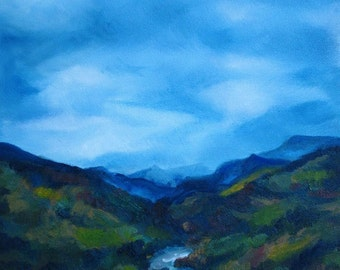 River Valley - original oil painting