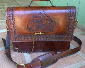 Tolkien-Inspired Leather Messenger/Shoulder Bag