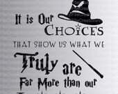 Harry Potter - Hogwarts - It is our Choices/Far More than Abilities  - SVG cut file (Silhouette, Cricuit)