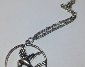 Hunger Games - Mockingjay symbol inspired necklace