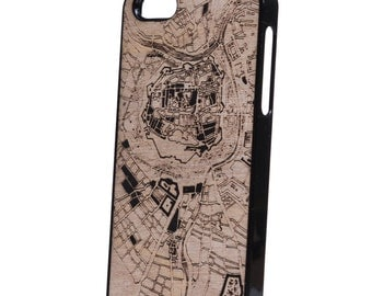 5 wood iPhone case citymap
