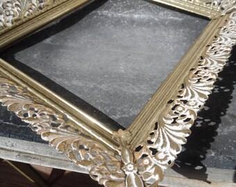Vintage metal frame - large