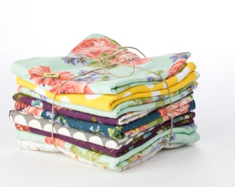 Flannel reusable towels, Un-Papertowels, Highly absorbant cloths