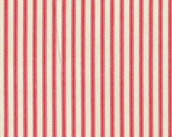 Euro Sham, Tailored, Cherry Red Ticking Stripe