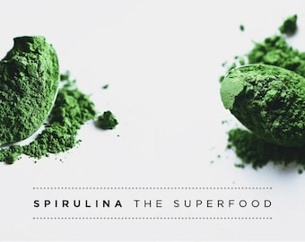 Pure 100% Green Spirulina powder SUPER FOOD ,Weight loss , Energy Suppliment