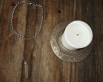Quartz chunky necklace