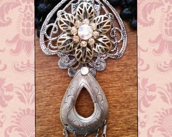 Boho silver necklace!!!