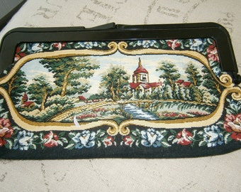 Tapestry Château and Garden Clutch 60's