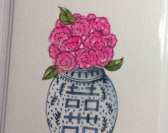 Pink Bouquet and Vase