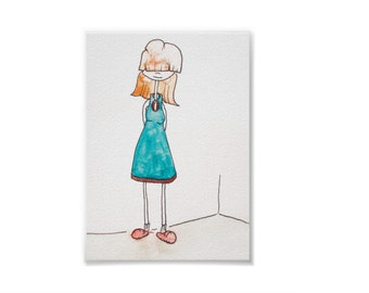 Ms. Bonnae, Your New Teacher - Handmade Watercolor Print