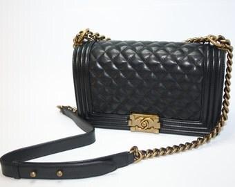 1990 Vintage Chanel Classic Shoulder Bag calfskin