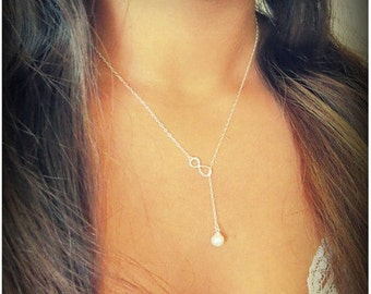 Infinite Pearl Necklace - Bridesmaids Gifts