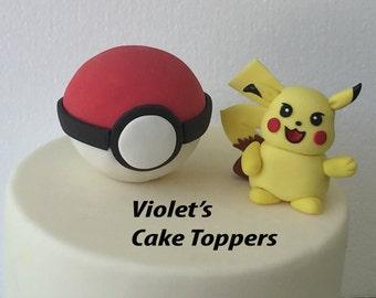 Edible Pikachu Cake Topper
